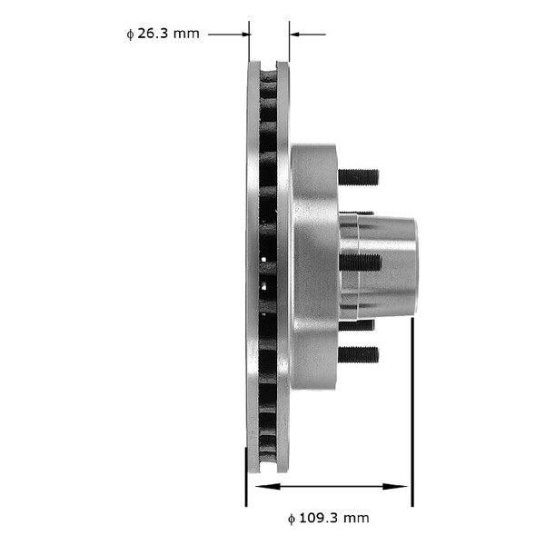 Bendix PRT1233 Brake Rotor