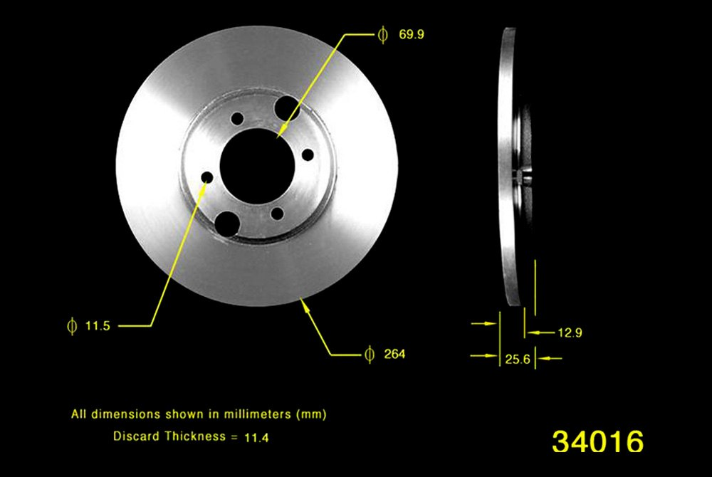 Rear Right StopTech 128.46048R Sport Cross Drilled Brake Rotor 1 Pack