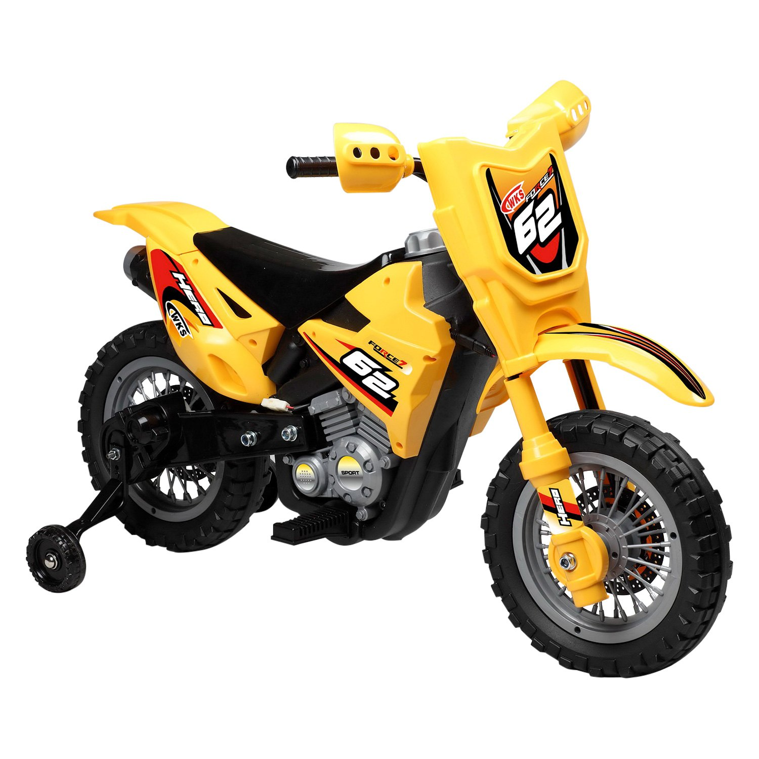 best ride on cars mini dirt bike yellow 6v 6v yellow. Black Bedroom Furniture Sets. Home Design Ideas
