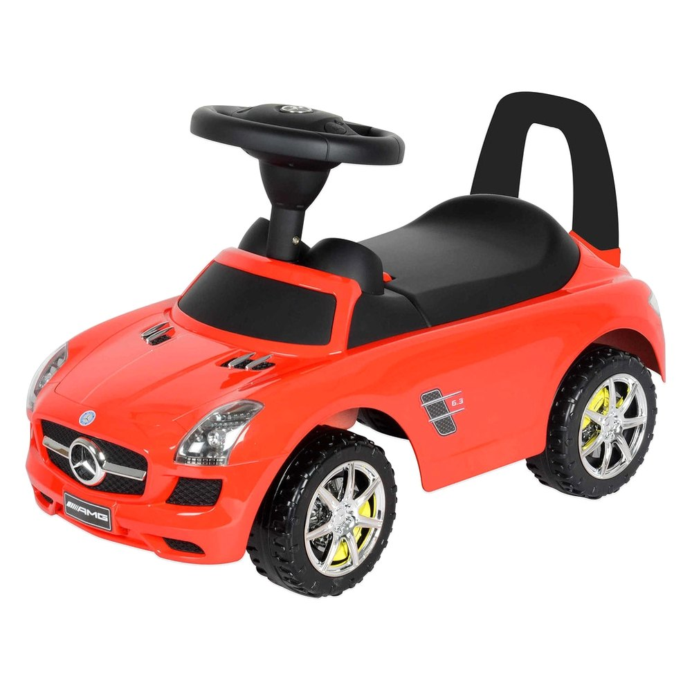 Best ride on cars mercedes push car red red mercedes for Mercedes benz best car