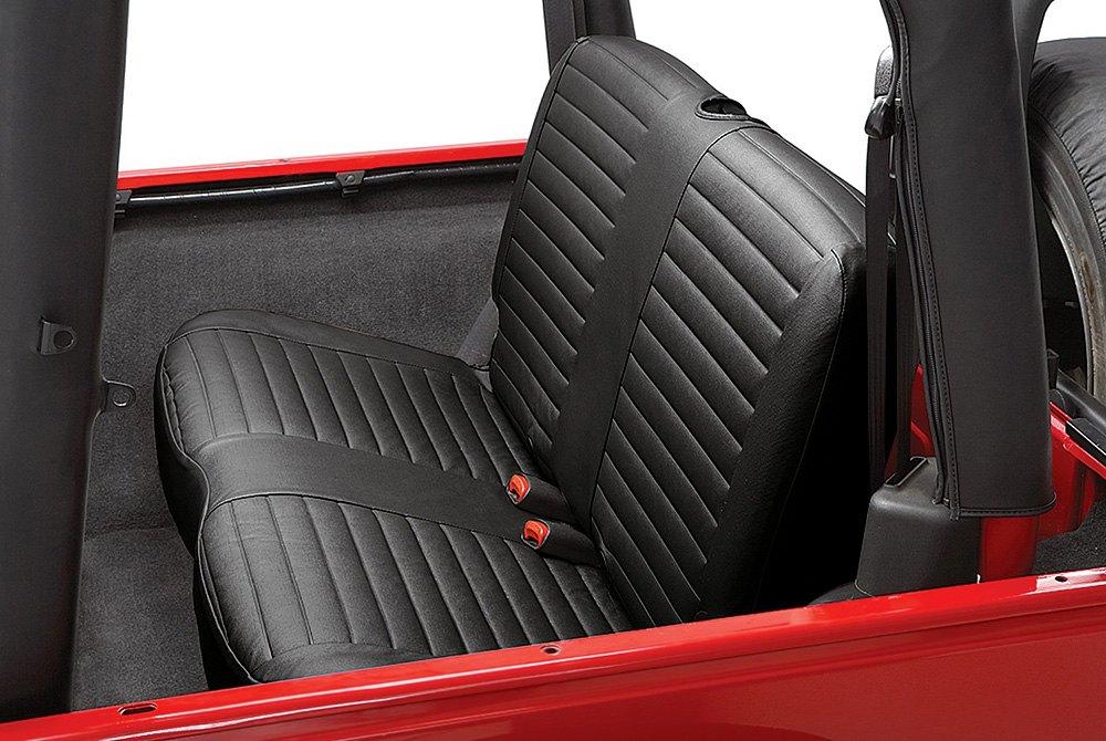 Bestop 174 29223 15 2nd Row Black Denim Seat Covers