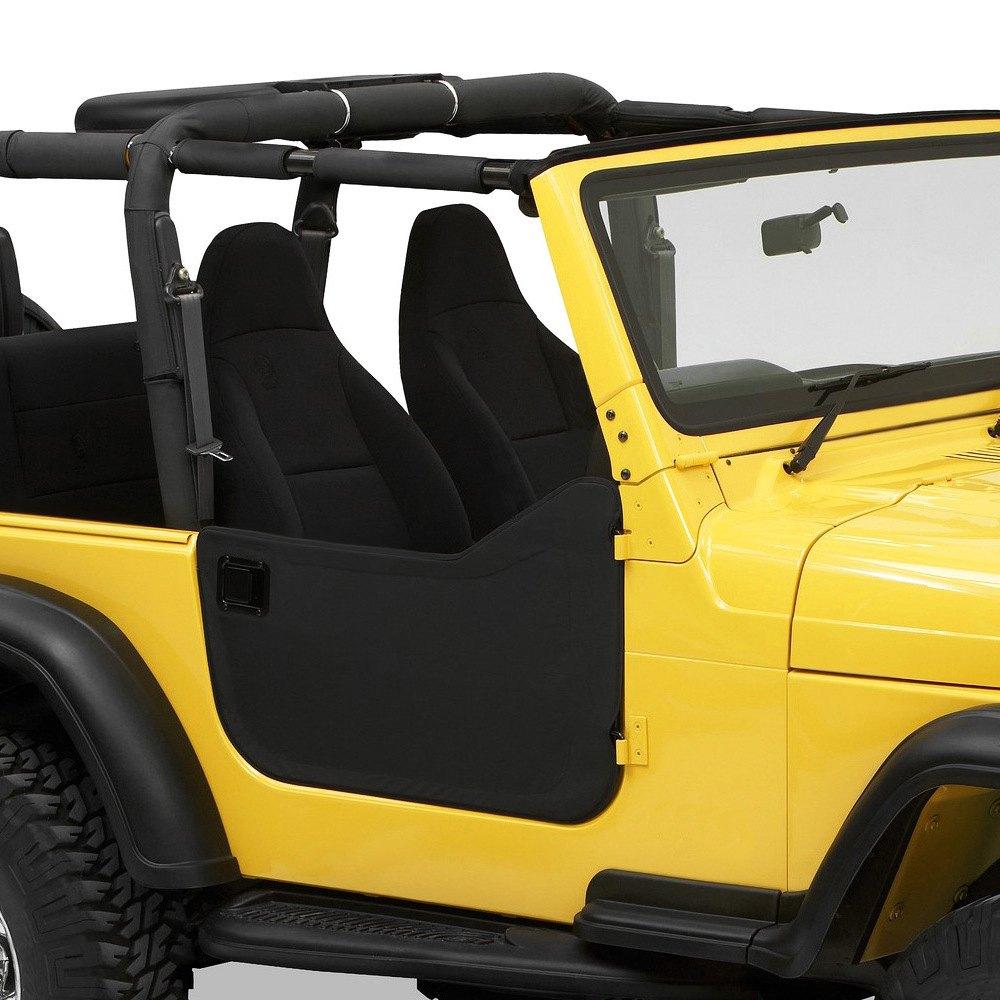 Bestop® - Black Denim Fabric Lower Half-Door Set & Bestop® - Jeep Wrangler 1997-2004 Fabric Lower Half-Door Set Pezcame.Com