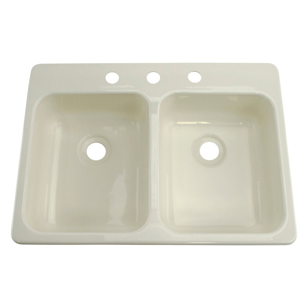Better bath 209401 25 x 17 parchment double kitchen for The galley sink price