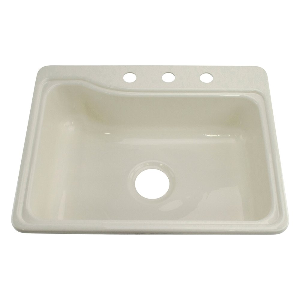 Better bath 209407 25 x 19 parchment single kitchen for The galley sink price