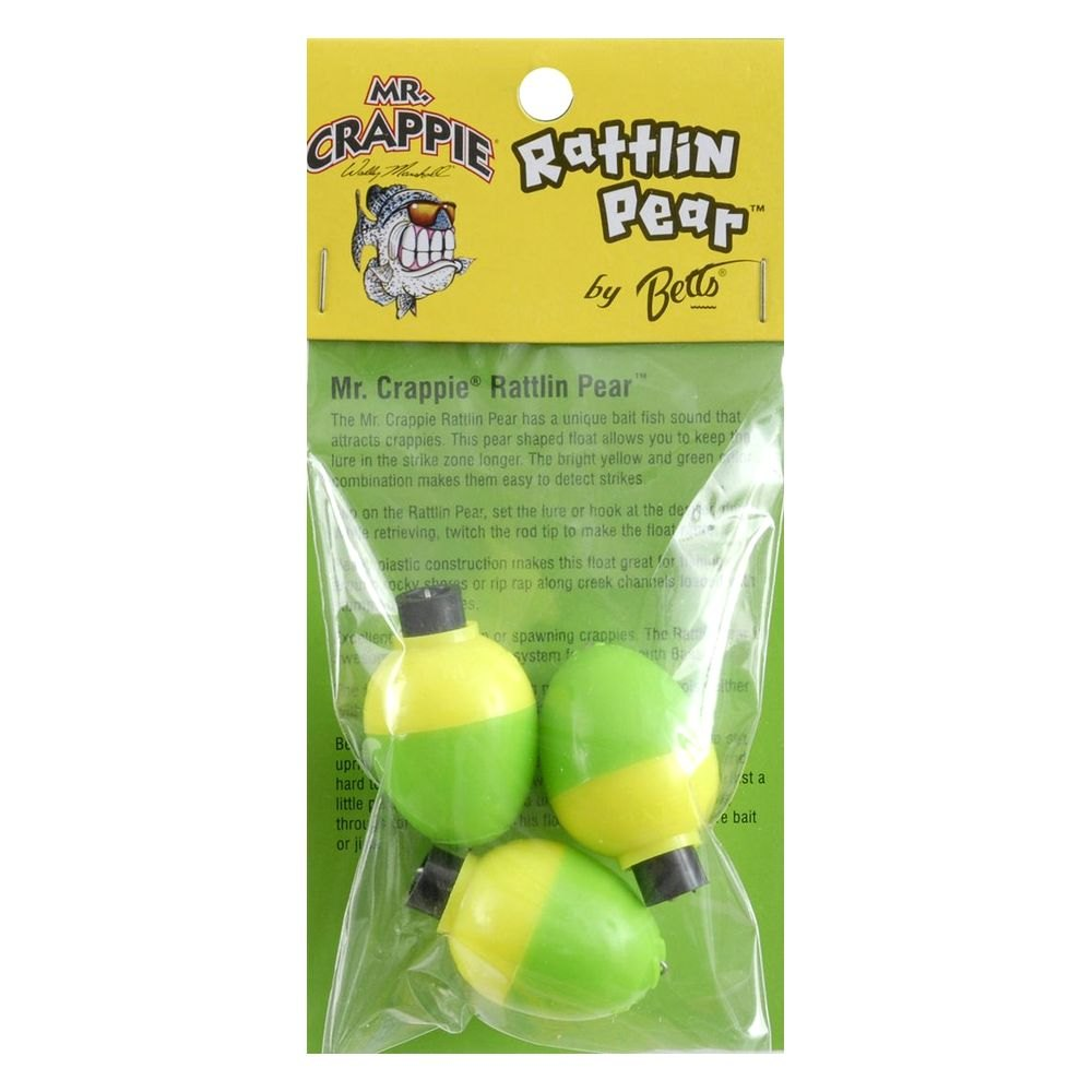 Betts rp3p 3yg mr crappie rattlin pear 1 fishing float for Betts fishing center