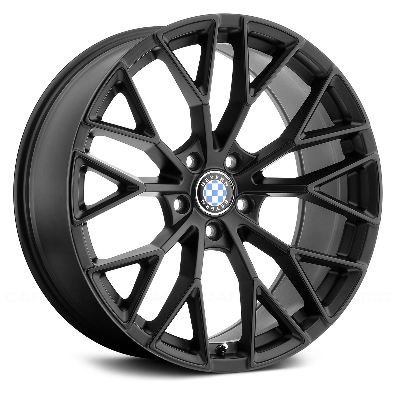 Beyern 174 Antler Wheels Matte Black With Gloss Black Face Rims