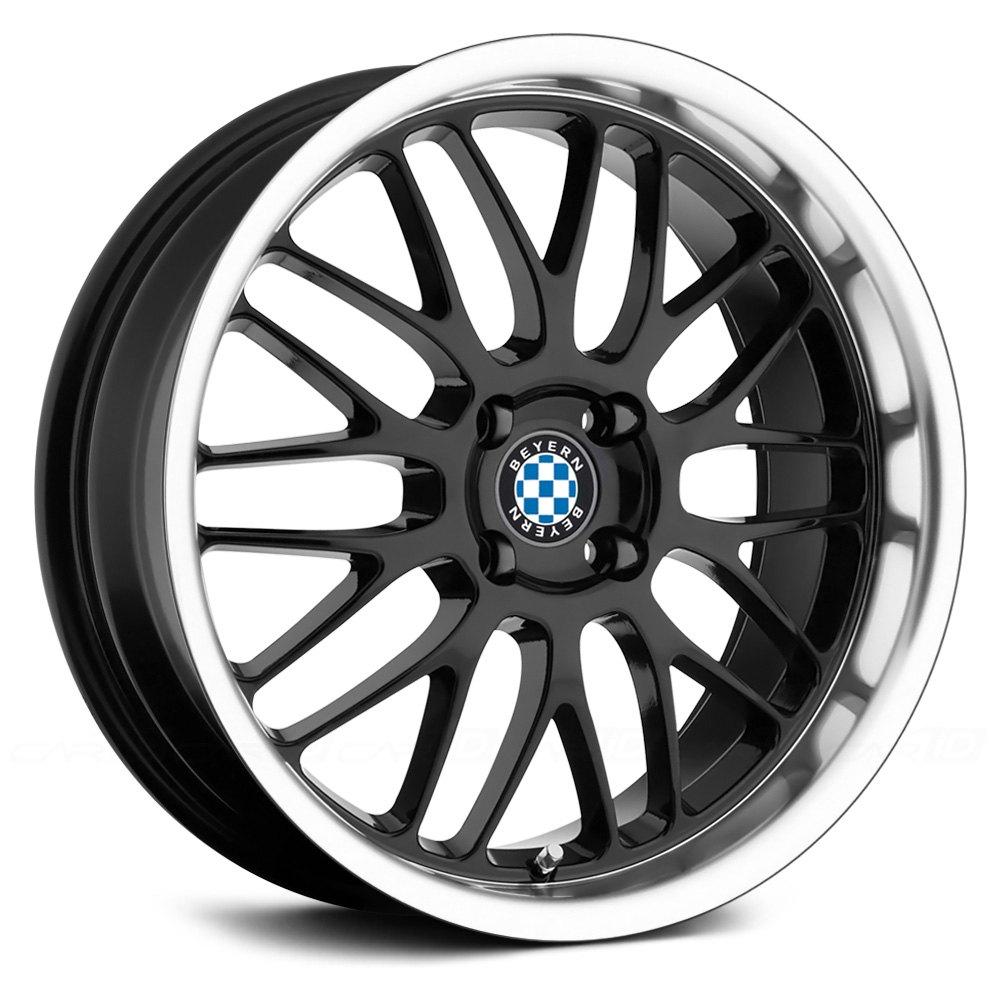 Beyern 174 Mesh Wheels Gloss Black With Mirror Machined Cut