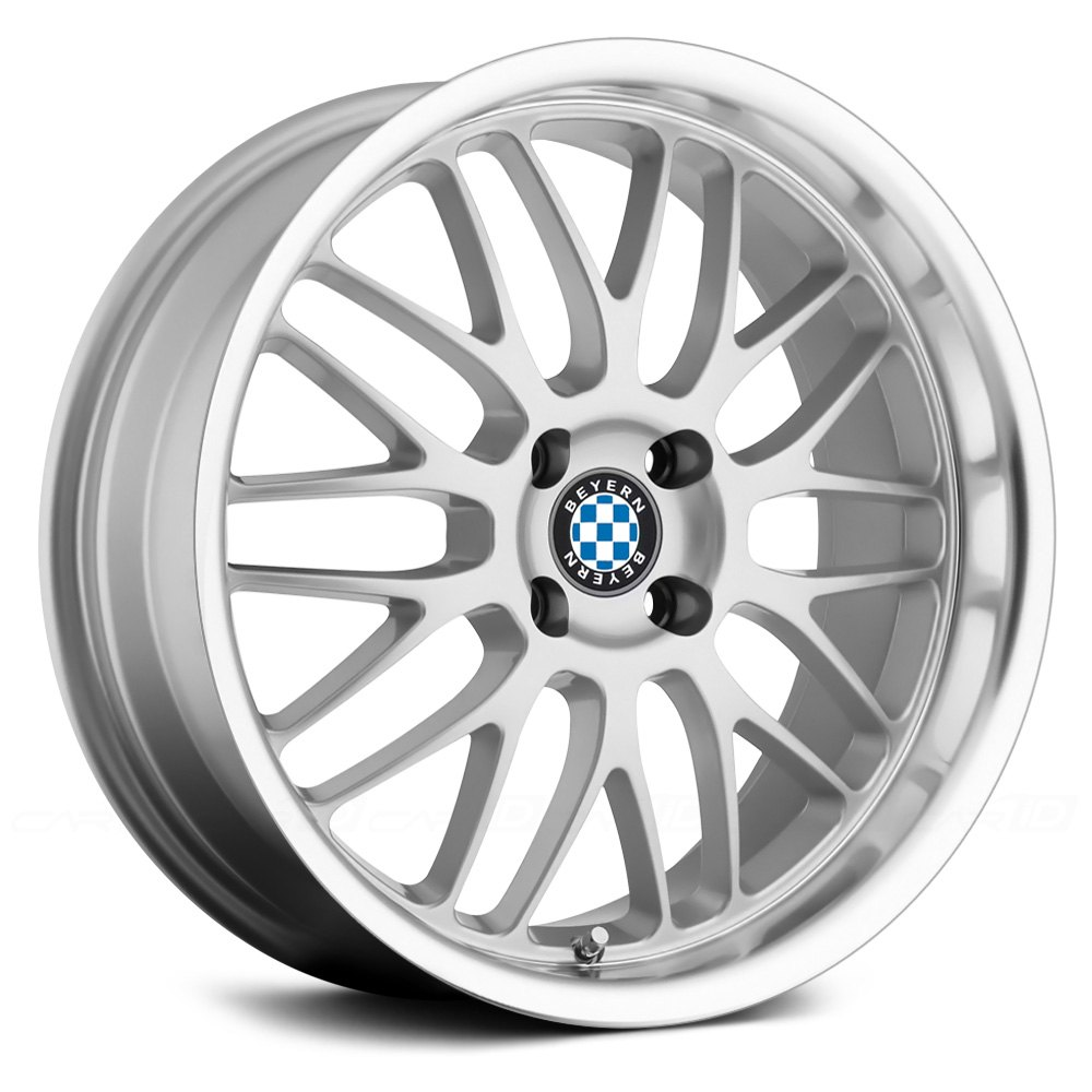 Beyern 174 Mesh Wheels Silver With Mirror Cut Lip Rims