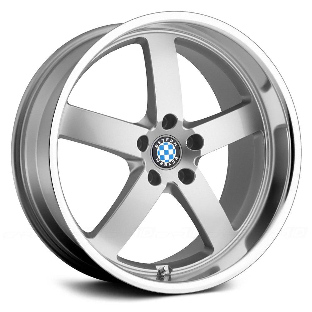 Beyern 174 Rapp Wheels Silver With Mirror Cut Lip Rims
