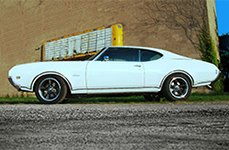 BG ROD WORKS® - OLD SCHOOL Gunmetal with Machined Lip on Oldsmobile Cutlass