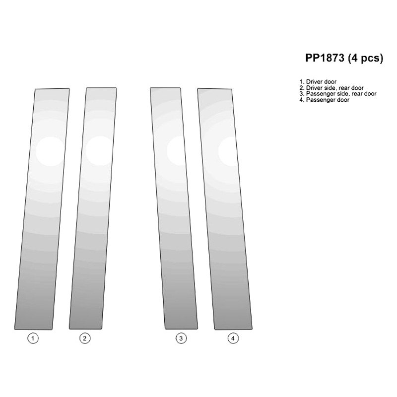 Chrysler Town And Country 2014 Pillar Posts