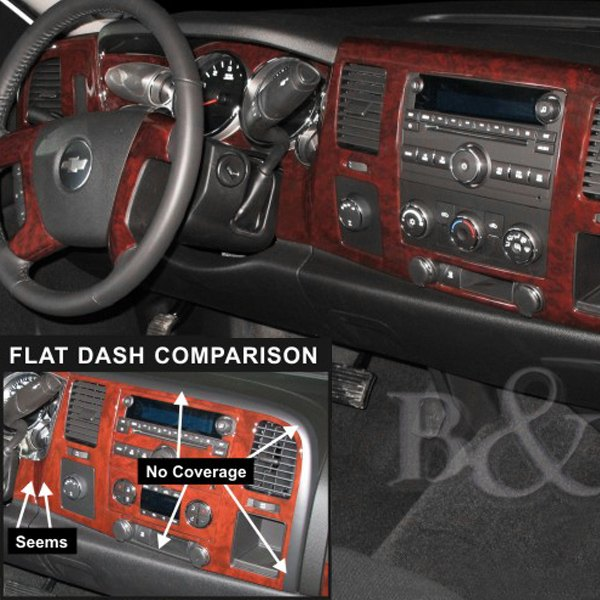 B Amp I 174 Chevy Avalanche 2007 3d Molded Large Dash Kit