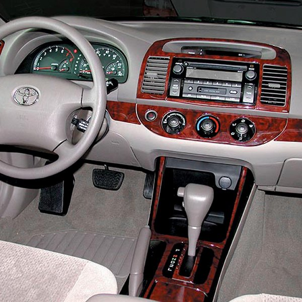 b i toyota camry with factory wood 2006 2d factory match full dash kit. Black Bedroom Furniture Sets. Home Design Ideas