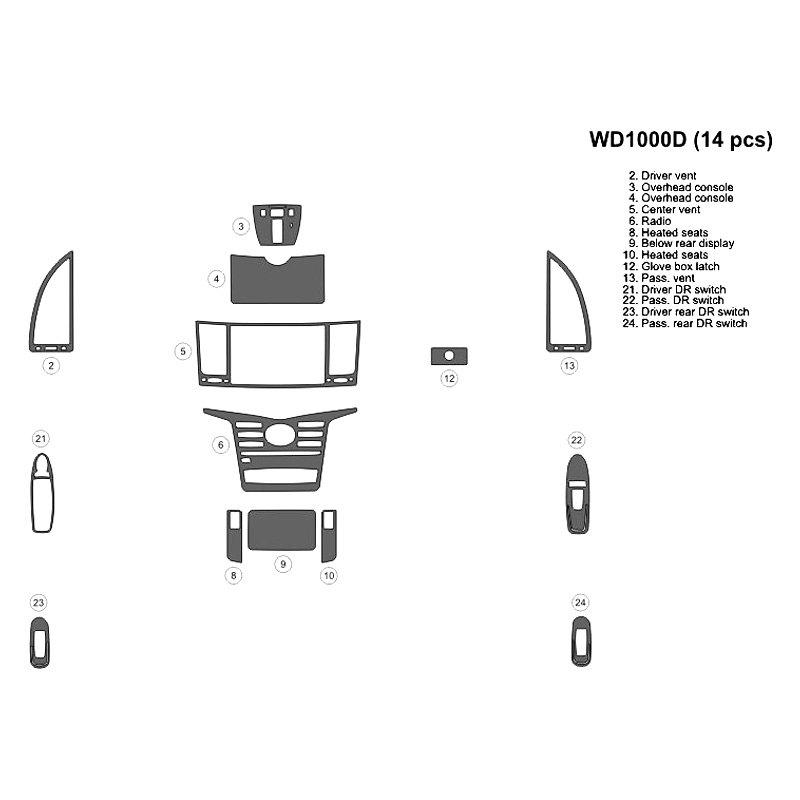Bi Infiniti Qx60 2014 2016 2d Main Dash Kit