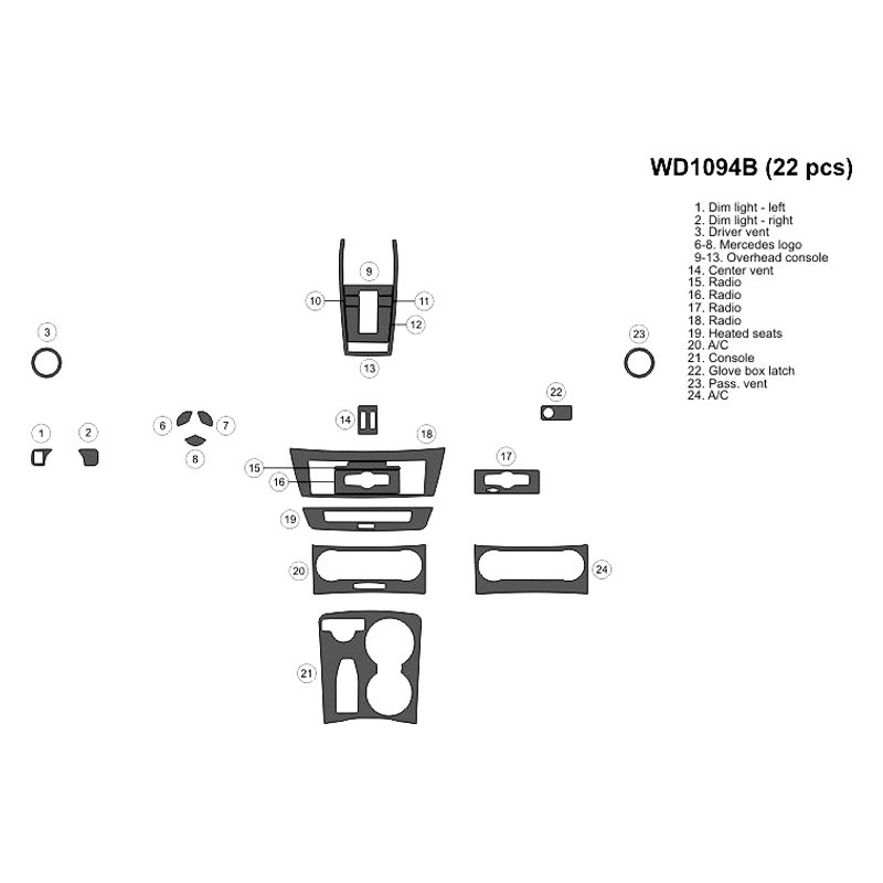 Bi Mercedes C180 C200 C250 C300 C350 C63 Amg 2013 2d