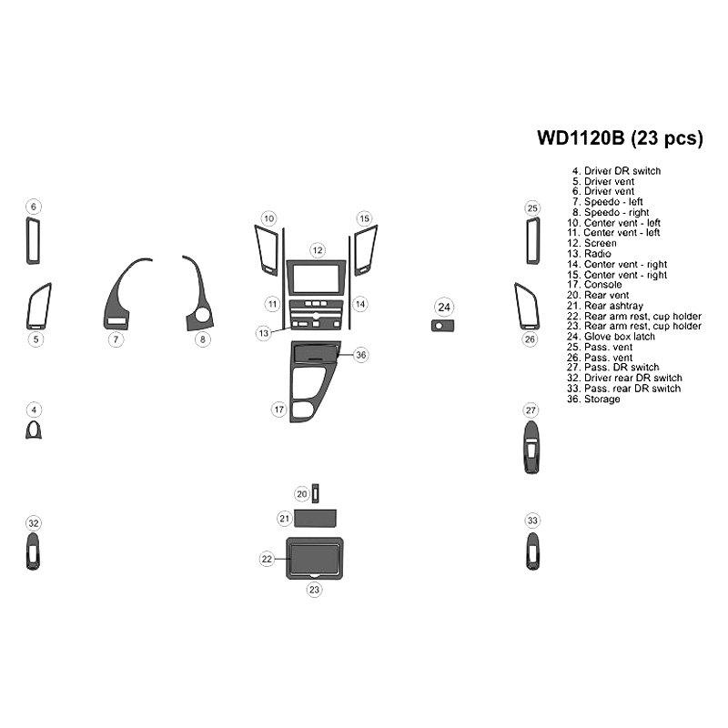 Bi Infiniti Q50 2014 2018 2d Large Dash Kit
