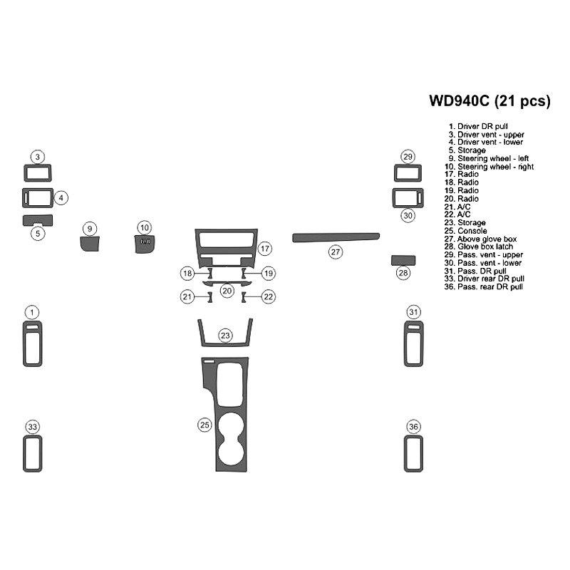 b u0026i u00ae  o factory wood 2010 2d small dash kit
