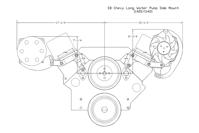 Billet Specialties Chevy Silverado 57l With Gen I Engine 2001 A Detailed C Compressor Bracketry Installation Diagram Side Mount Bracket Kit