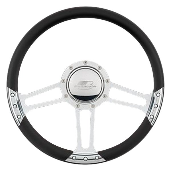 Leather style half wrap ring for select edition series steering wheel