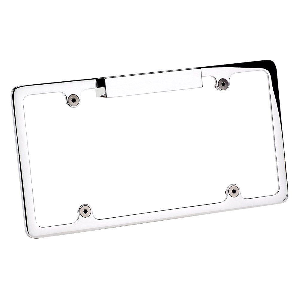 Billet Specialties® 55220 - Polished License Plate Frame with Light