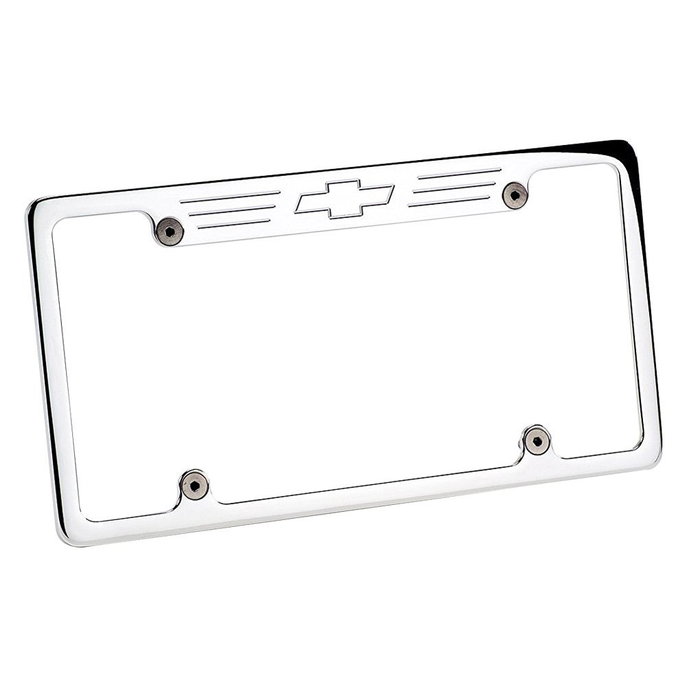 Billet Specialties® 55623 - Polished License Plate Frame with ...