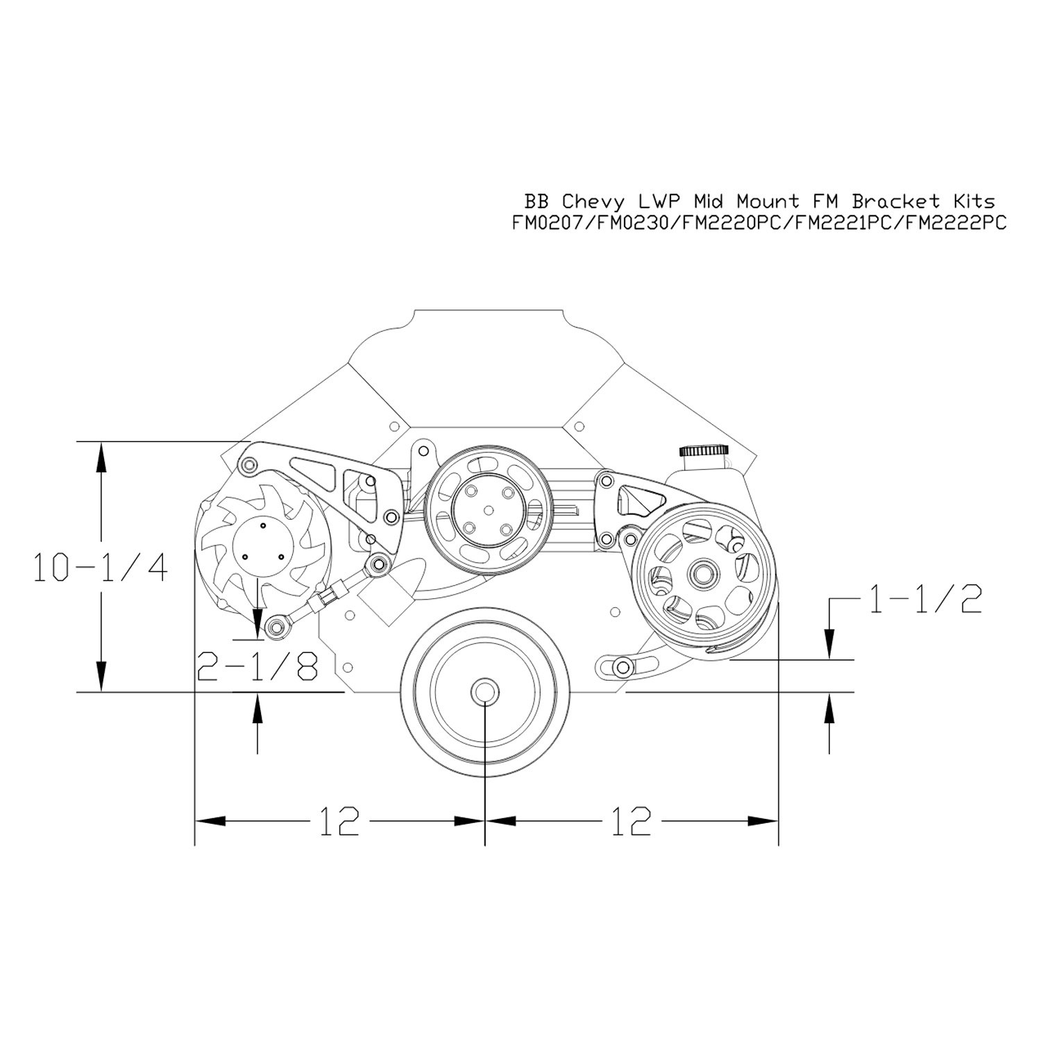 Billet Specialties® -. Alternator Braket .