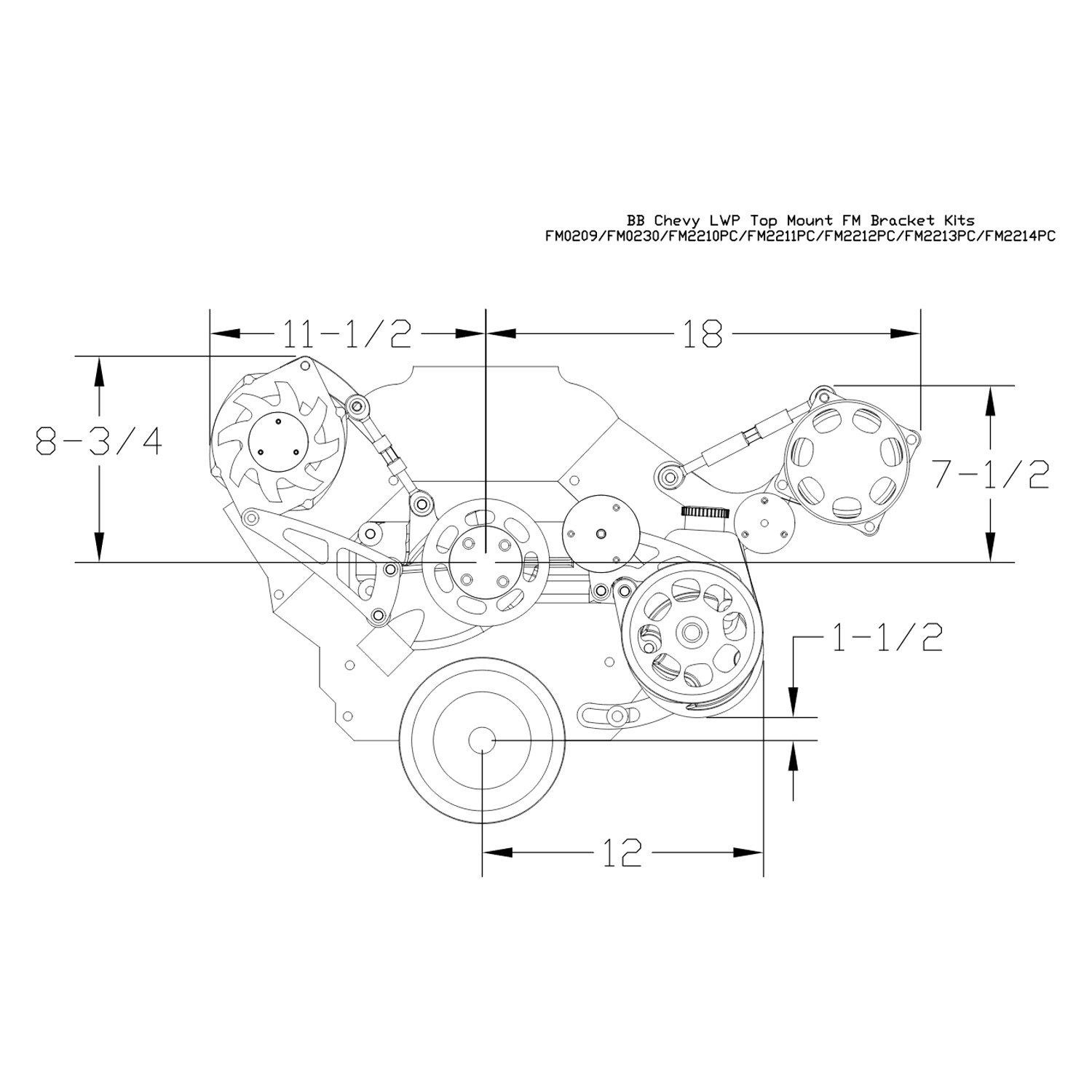 Billet Specialties Alternator Wiring Diagram Free Diagrams Volvo 120c Ket Kit