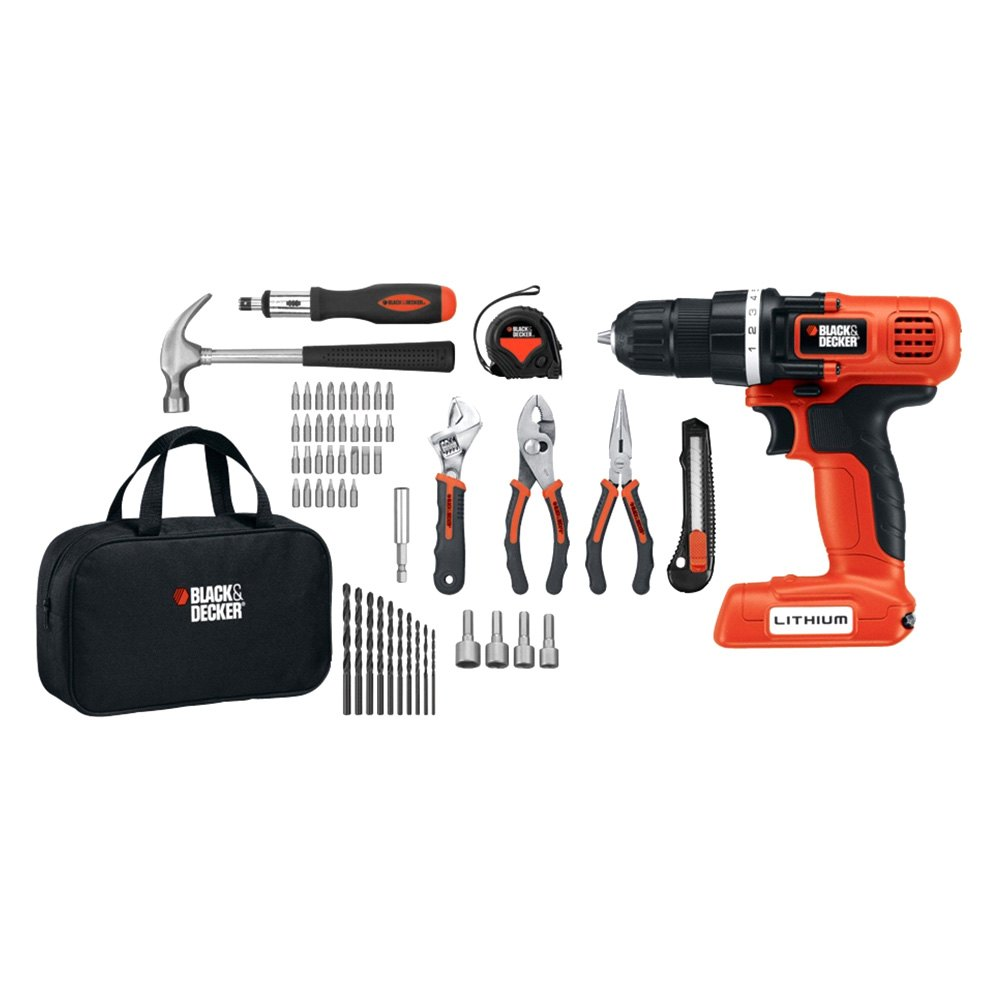 Dick Smith | Black & Decker 18V Lithium Drill Driver Kit 1 ... |Cordless Power Tools Black And Decker