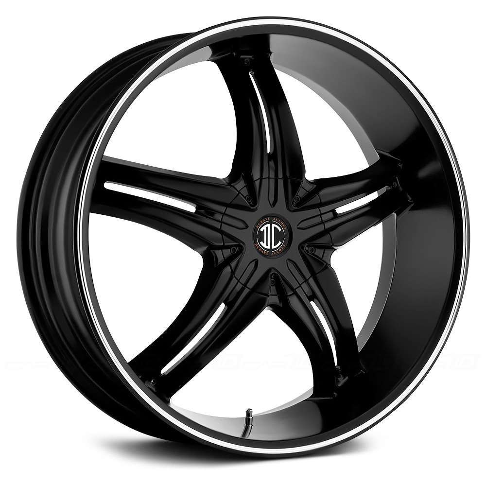 BLACK DIAMOND® NO.5 Wheels - Satin Black with Machined ...
