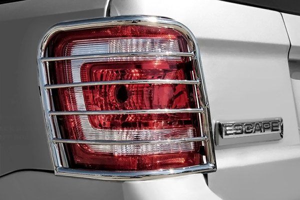 1 Pack Black Horse 7H1409SS Stainless Steel Tail Light Guard