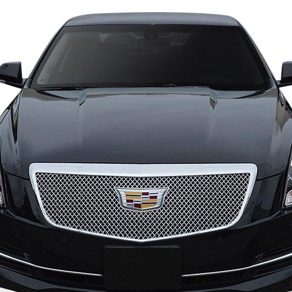 Custom Cadillac Ats: For Cadillac ATS 2015-2018 Black Horse 1-Pc Chrome Mesh