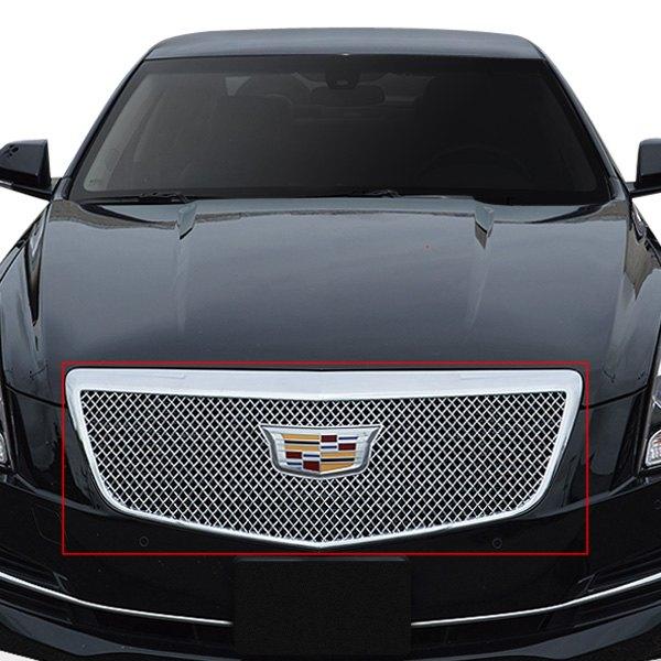 For Cadillac ATS 2015-2018 Black Horse 1-Pc Chrome Mesh