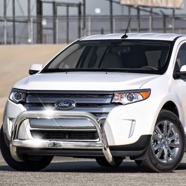 """Black Ford Edge 2014 >> Black Horse® - Ford Edge 2014 2.5"""" Polished Bull Bar w/o Skid Plate"""