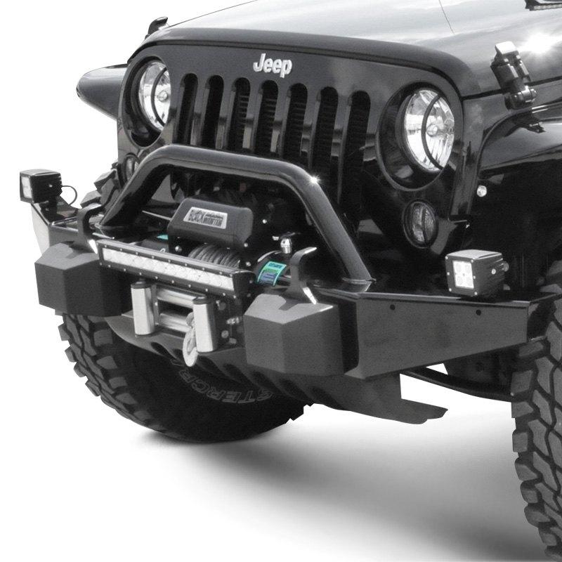 Heavy Duty Front Steel Bumper With Winch Mount Da5645 For: Jeep Wrangler 2009 Rock Full Width Front