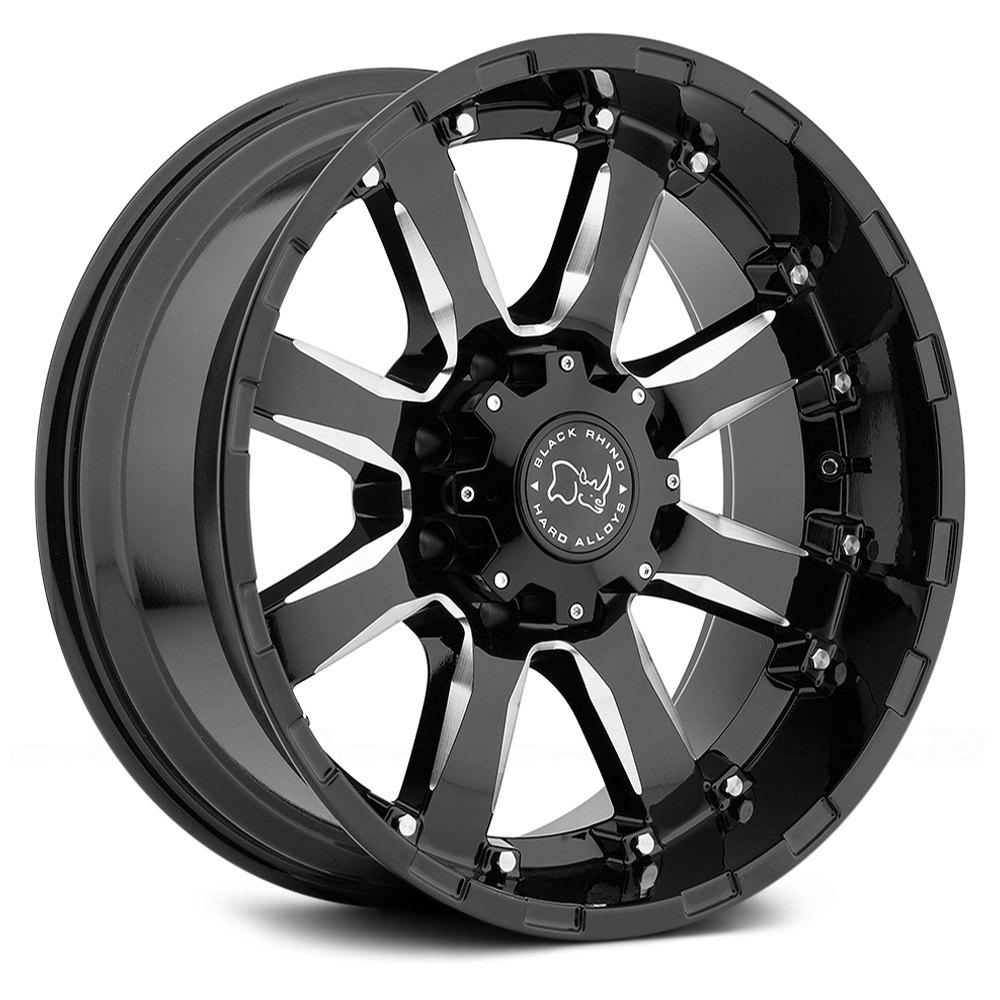 BLACK RHINO® SIERRA Wheels - Gloss Black with Milled ...
