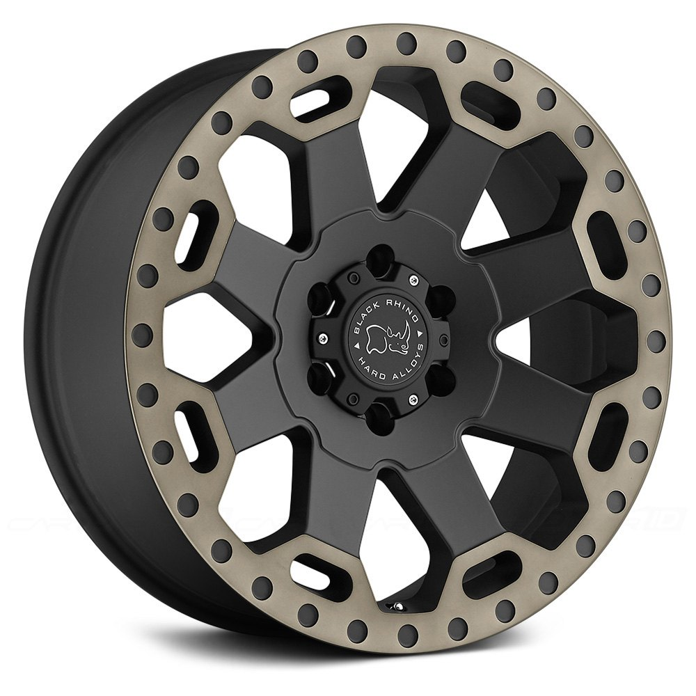 Black Rhino 174 Warlord Wheels Matte Black With Dark Tint