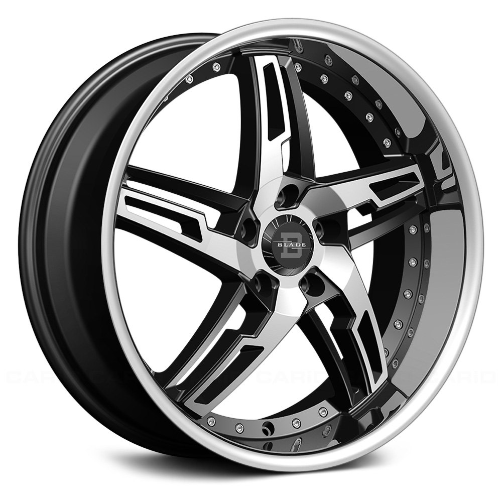 BLADE® MARCELLO Wheels - Black with Machined Face and ...