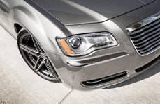 BLAQUE DIAMOND® - BD-6 Matte Graphite with Machined Face on Chrysler 300