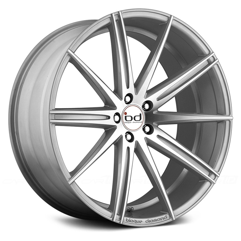 Blaque Diamond 174 Bd 9 Wheels Silver With Polished Face Rims