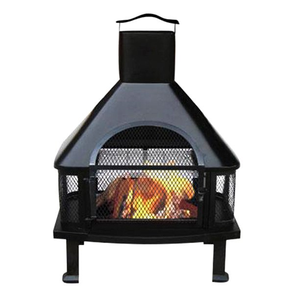 Blue rhino waf1013c outdoor wood burning fireplaces for Wood burning stove for porch