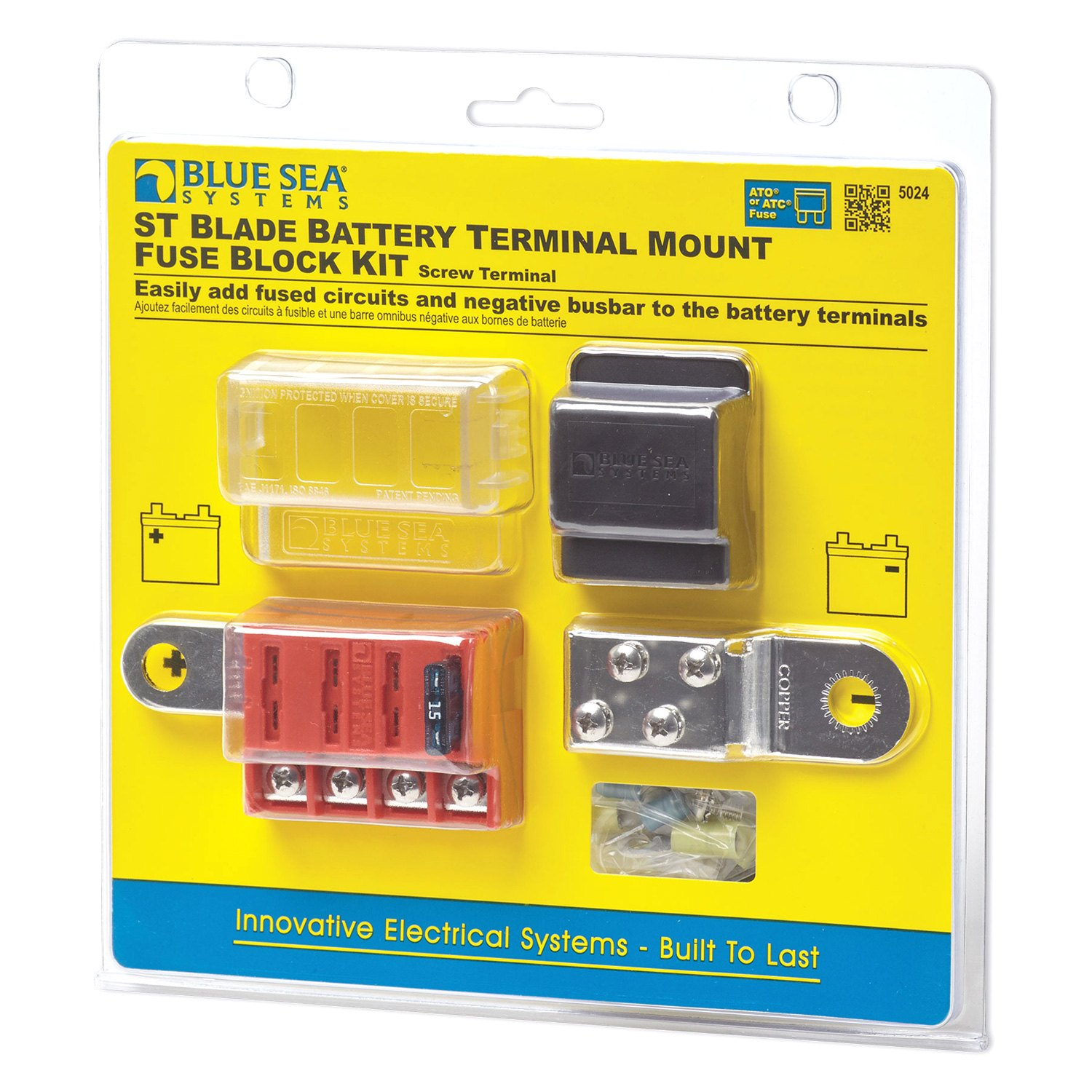 blue sea systems 5024 st blade battery terminal mount. Black Bedroom Furniture Sets. Home Design Ideas