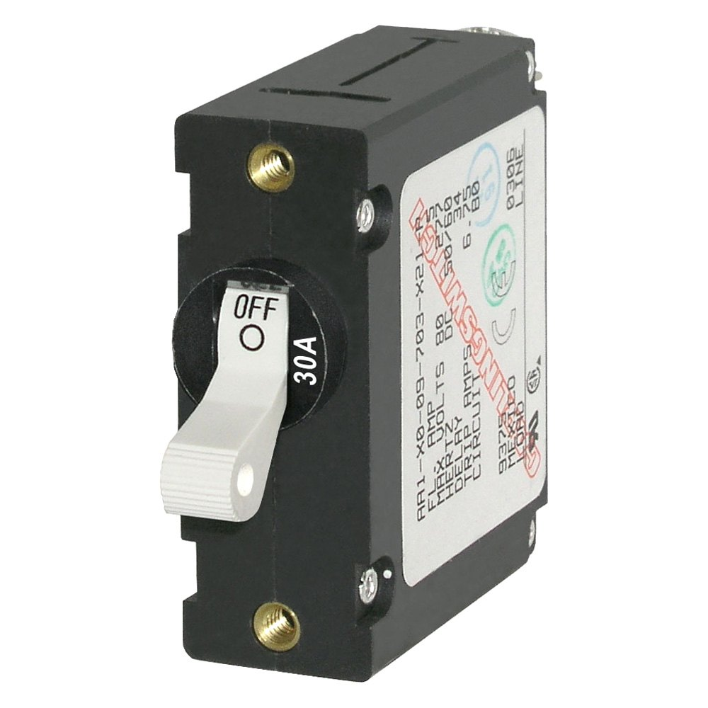 12 volt circuit breaker manual reset