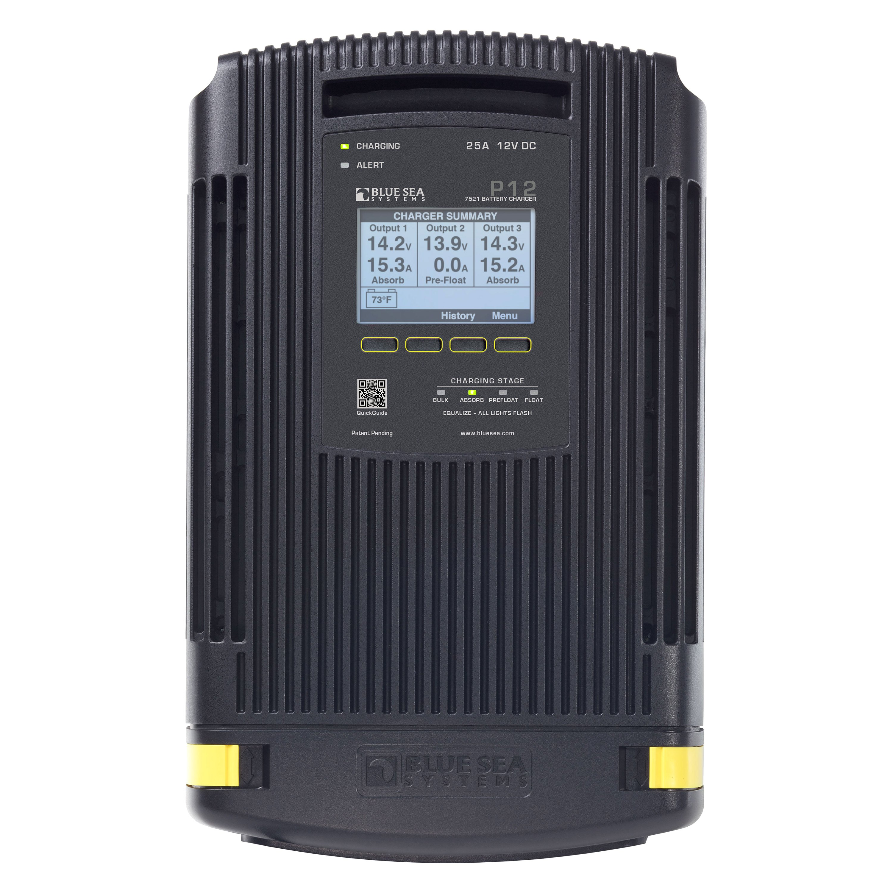 Three Bank Battery Monitoring System : Blue sea systems p a v bank battery charger