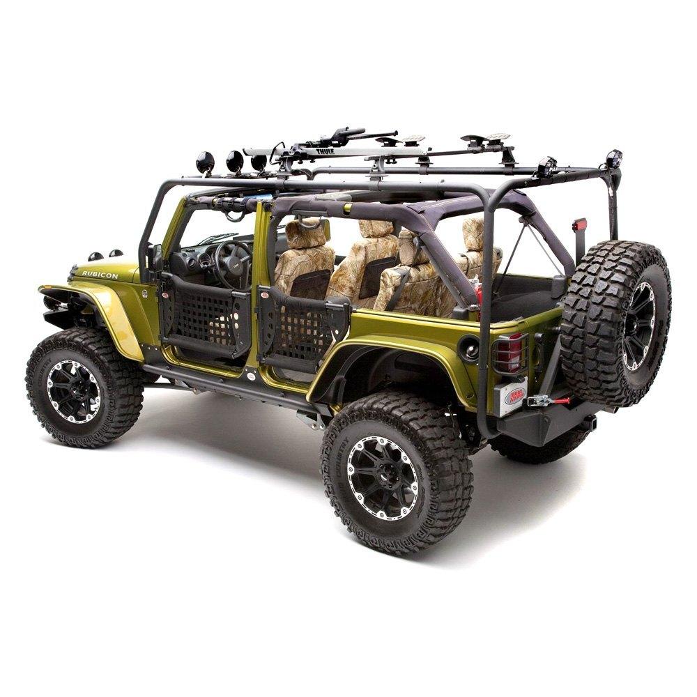 body armor 4x4 jeep wrangler 2007 2017 full width black. Black Bedroom Furniture Sets. Home Design Ideas