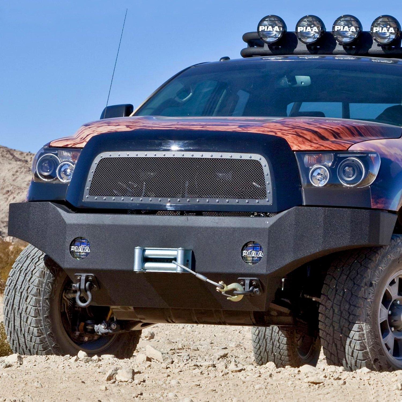 body armor 4x4 toyota tundra 2010 full width black front winch hd bumper. Black Bedroom Furniture Sets. Home Design Ideas