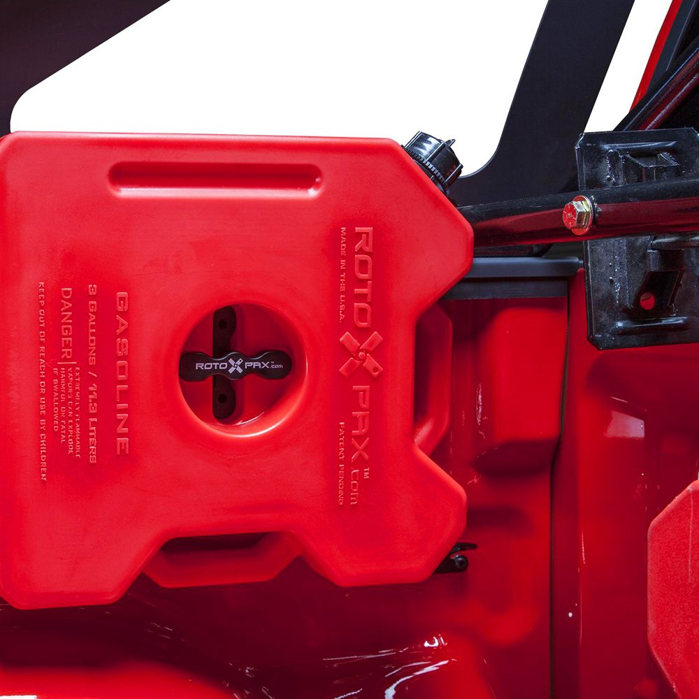 Jerry Can Holder For Truck Bed >> Body Armor 4x4® DSF-5127 - Bed Cap Mounted Roto-Pax Can Holders