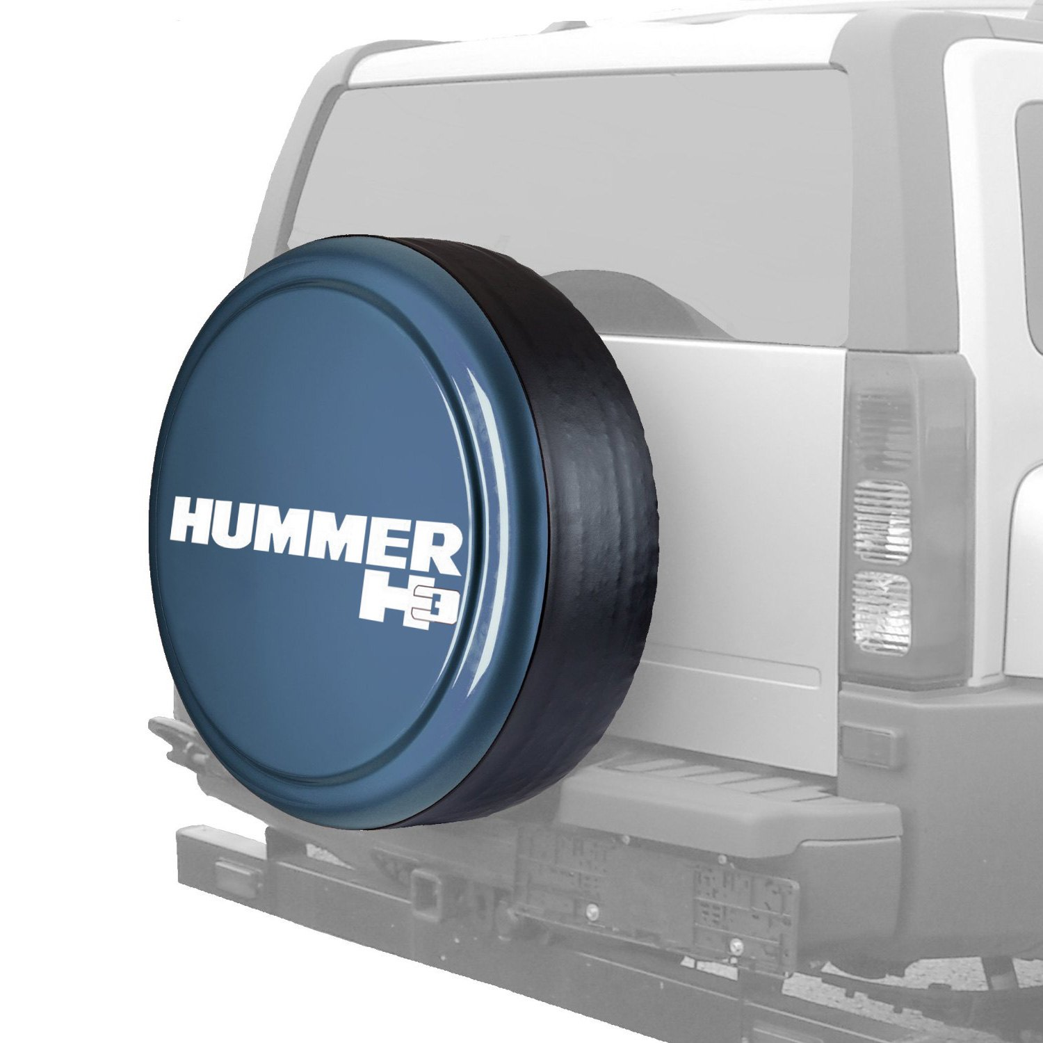 """Details about For Hummer H13 13-13 Tire Cover 1313"""" MasterSeries Slate Blue  Metallic Spare Tire 
