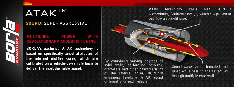 Borla - ATAK Series Exhaust System