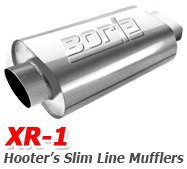 Borla - XR1 Hooters Slim-Line Mufflers