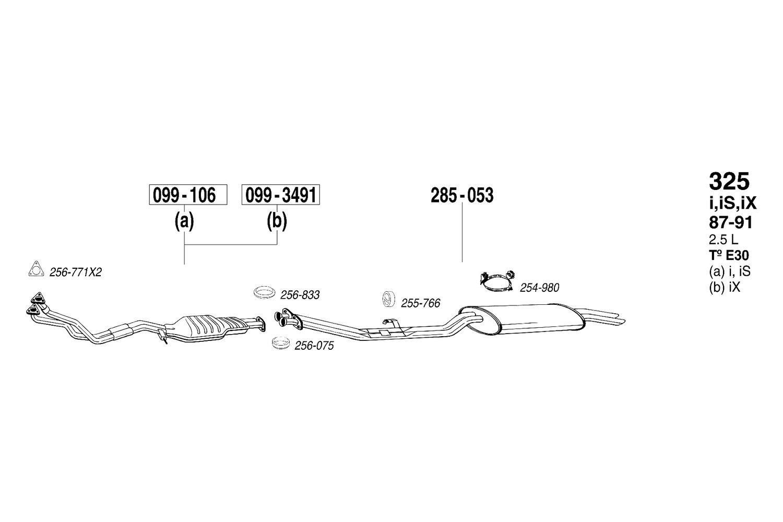 1 Endschalldämpfer BOSAL 235-009 Convient pour